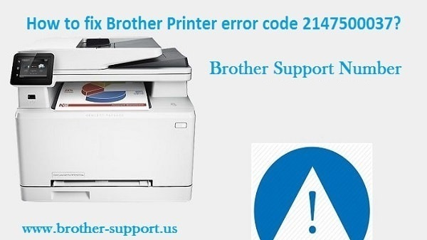 Brother Printer error code 2147500037